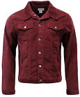 NEW MENS RETRO SLIM WESTERN JACKET Cord CORDUROY 70S Seventies BURGUNDY MC163