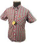 SALE! Size S: GABICCI VINTAGE RETRO MOD MENS CHECK SHIRT Short Sleeve BALL BJ6