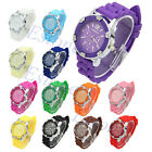 Crystal Quartz Wrist Watch Lady Girls Womens Fashion Silicone Stone Geneva Jelly