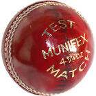 Lusum Munifex Cricket Ball Youth club school match hand stitched 4 piece leather