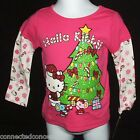 Christmas Santa Hello Kitty Infant/Toddler T-Shirt in Pink (SIZES 12 Mo - 3T)