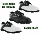 Hi-Tec Dri-Tec G 300 Golf Waterproof Leather Shoes Trainers Mens Cleats