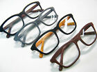WOODY Wood Grain Wide Hornrim Reading Glasses Black Red Gray Hipster Geek Style