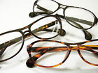 2 PAIR $15 Aviator Reading Glasses Light Weight Black Tortoise Geek-Style Unisex