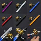 Mini Portable Pocket Fish Pen Shape Aluminum Alloy Fishing Rod Pole Reel