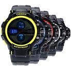 OHSEN LCD Dual Core Mens Sport Date 5 Colors Fashion Rubber Band Wrist Watch