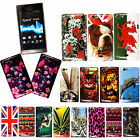 For Sony Xperia Miro St23i St23a New Stylish Printed Hard Shell Case Cover+Guard