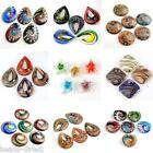 Various Colorful Lampwork Glass Teardrop Round Pendant Beads DIY Gift Jewelry