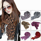 NW WOMENS SOFT LEOPARD CRINKLE SHAWL SCARF LONG STOLE COTTON POLYESTER WRAP BE4K