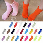 24 Candy Color Cotton Fashion Fluorescent Women's Natural Curling Socks