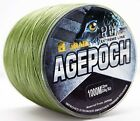 NEW!8Strands1000M Army Green Agepoch Super Strong Dyneema Braided  Fishing Line
