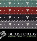 Berisfords Ribbons Hearts And Kisses, Rustic Vintage Style 15mm, 2 Metres, 13592