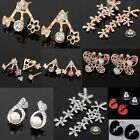 Lovely Butterfly Snowflake Flower Beads Earrings Crystal Beads Fashion Ear Stud