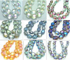 10pcs Faceted Oval crystal glass Loose beads 12mm  Variety of colors