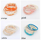 Bohemian Romatic Fashion Bracelet Set Bangle 6pcs Multilayer Beads New JW066