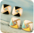 Retro Geometric Square Earrings New Fashion Ear Stud Earrings Hot Sell JW156