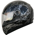 Motorcycle Helmet Full Face Sports Helmets DOT skull Black 516_122