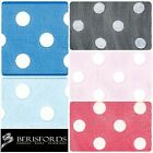 Berisfords Ribbons Vintage Look Sheer Dots, Bright Colour Range, 13mm, 2 Metres