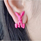 Fashion Candy Colour Cute Lovely Punk Rabbits Animal Stud Earrings New JW153