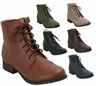 Breckelle's GEORGIA-41 Women's Lace Up Combat Ankle Boots Booties