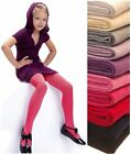 Girls Ribbed Tights 100 Denier Soft Warm Natural Fibres Age 2-11 Knittex