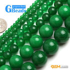 "Green Jade Gemstone Round Beads Free Shipping 15"" 4mm 6mm 8mm 10mm 12mm 14mm"
