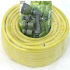 Rolson 8 Water Spray Gun Tap Connector 50m 75m 100m Garden Hose Yellow Anti-Kink