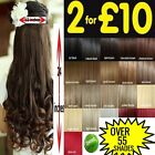 "cheap One Piece 24"" black blonde brown clip in hair extensions curly straight"