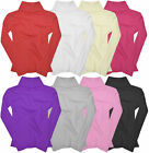 Girls Kids Jumper Ribbed Polo Neck Childrens Tops New Childs Teen Baby 0-14 Yrs