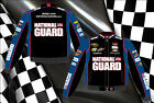 Dale Earnhardt Jr Nascar Cotton Twill Jacket National Guard Blue Black Nascar