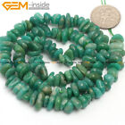 "GEM-inside Natural Stone Clips Beads For Jewelry Making 15"" 4-6x7-10mm Freeform"