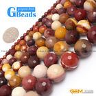 "Fashion new round faceted mookaite jasper loose beads 15"" 4/6/8/10/12/14/16mm"