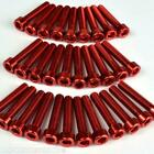 M5 Alloy Cap Head Bolt Red 7mm, 10mm, 15mm, 20mm, 25mm, 30mm, 35mm, 40mm
