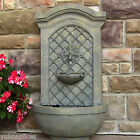 "31"" Rosette Leaf Electric Outdoor Wall Water Fountain"