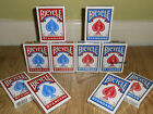New Bicycle Playing Cards Red or Blue Decks 1 2 4 6 8 12 Packs, Poker, Blackjack