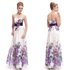Ever Pretty Strapless Ruched Waist Floral Printed Ladies Party Dress 08043