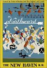 TR97 Vintage Northward New Haven Railway Travel Poster Re-Print A2/A3/A4