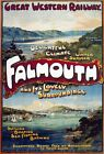 TR60 Vintage Falmouth UK GWR Great Western Railway Travel Poster A1/A2/A3/A4