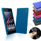 Thin Crystal Clear Matte Soft Gel Silicone Case Cover For Sony Xperia Z1 L39h
