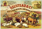 AD10 Vintage Beef Pork Lard Packers Advertisement Poster Re-Print A1 A2 A3  A4