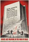 2W10 Vintage WWII Books Are Weapons U.S Propaganda War Poster WW2 A2 A3 A4