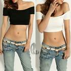 Sexy Off Shoulder Crop Tank Tee Top Dancewear Punk Hippy Clubwear AU Seller T126