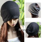 Unisex Stretchy Women's Men's Headband Beanie Hat Cap Neck Warmer Scarf Hairband