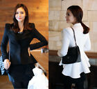 Women White Black Casual Suit One Button Blazer Jacket SwallowTail Style NWT HOT