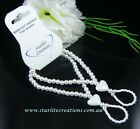 BABY  Barefoot Sandals WHITE HEARTS Beach bridal Christening / Naming Day Girls