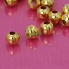 Wholesale Metal Round Spacer Beads 2mm 3mm 4mm 5mm 6mm 4 Color