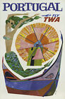 TX126 Vintage Portugal Travel Tourism Airline Poster Re-Print A2/A3/A4