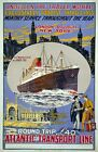TW66 Vintage 1920's London New York Cruise Ship Travel Poster A1/A2/A3/A4