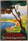TV97 Vintage 1940's ISCHIA Island Italian Italy Travel Tourism Poster A2/A3/A4