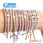 "Fashion heart shape with silver plated beads bracelet 7""  14 colors selectable"